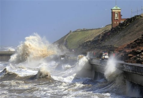 Remnants of Hurricane Katia hit British shores
