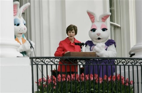 Laura Bush at White House Easter Egg Roll