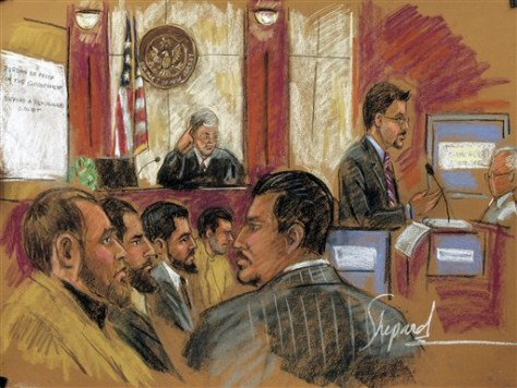 Image: Sketch of defendants
