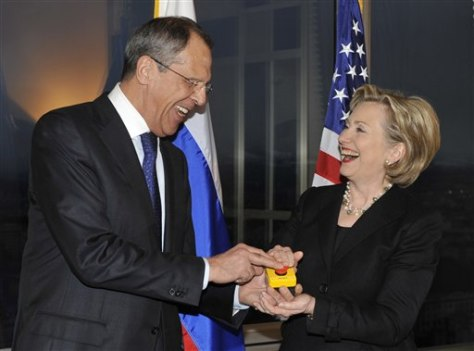 Image: U.S. Secretary of State Hillary Rodham Clinton, right, and Russian Foreign Minister Sergey Lavrov