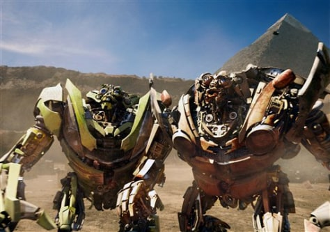 "Image: Twin robots in ""Transformers"""