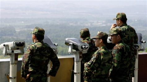 Image: South Korean soldiers at the DMZ