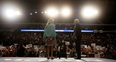 Image: Sen. John McCain, R-Ariz., and his wife Cindy