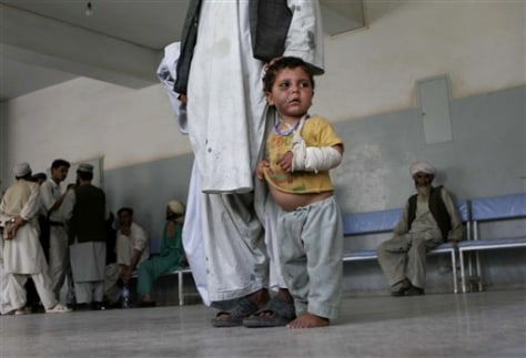 IMAGE: INJURED AFGHAN BOY