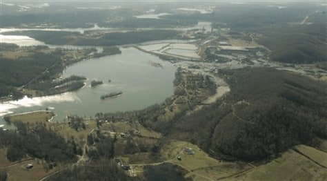 Image: Aerial of spill site
