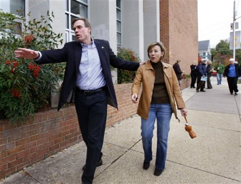 Image: Mark Warner and his wife, Lisa Collis