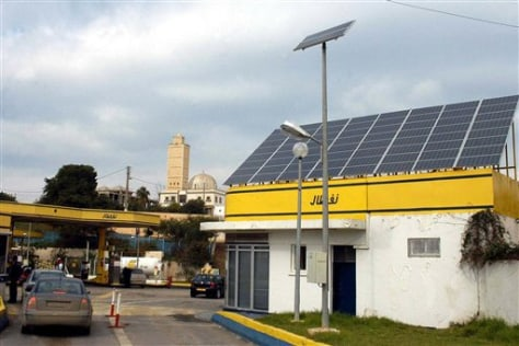 IMAGE: SOLAR POWER ATOP ALGIERS GAS STATION