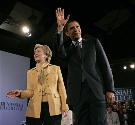IMAGE: Barack Obamaand Hillary Clinton