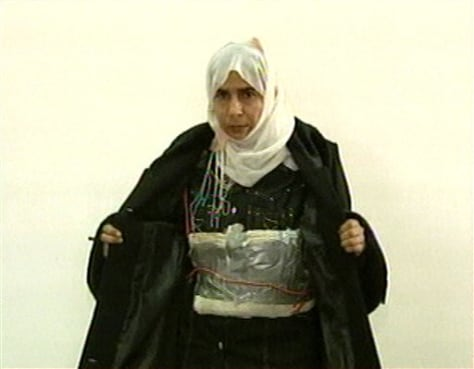 Image: Female suicide bomber