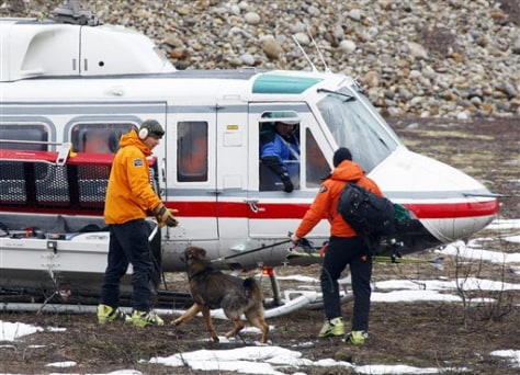 Image: Rescuer with search dog