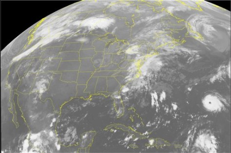 IMAGE: SATELLITE VIEW OF HURRICANE GORDON