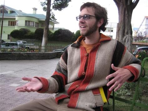 IMAGE: Fulbright scholar in La Paz, Bolivia