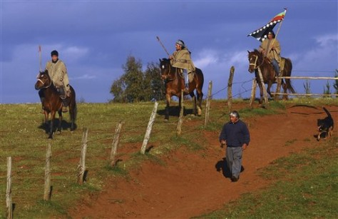 Image: Mapuche warriors