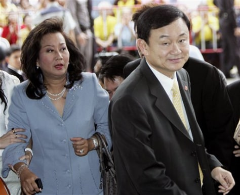 Image: Thaksin and his wife