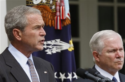 Image: Bush speaks on Georgia