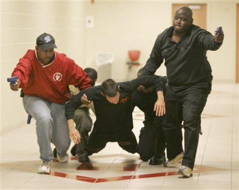Image: Officers in 'active shooter' training