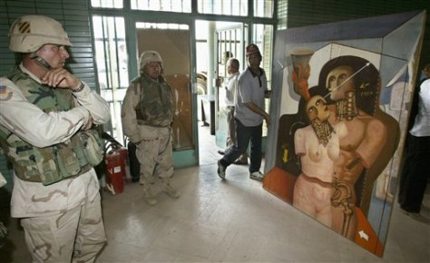 IMAGE: RECOVERED ARTWORK IN IRAQ