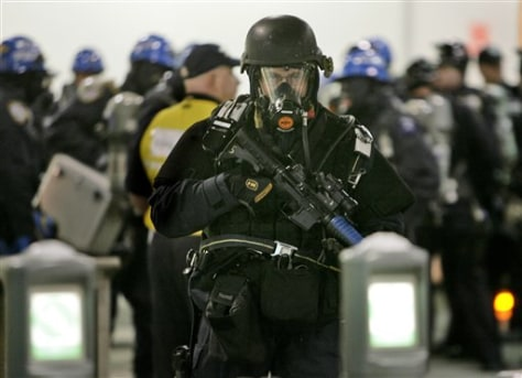 Image: Emergency responders participate in drill