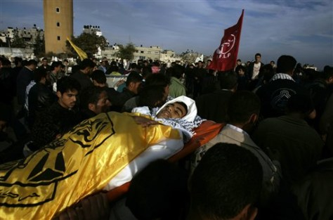 IMAGE: GAZA CITY MOURNERS