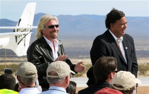 Image: Richard Branson, left