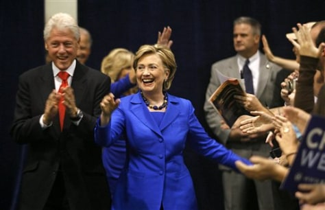 Image: Sen. Hillary Rodham Clinton and former President Bill Clinton