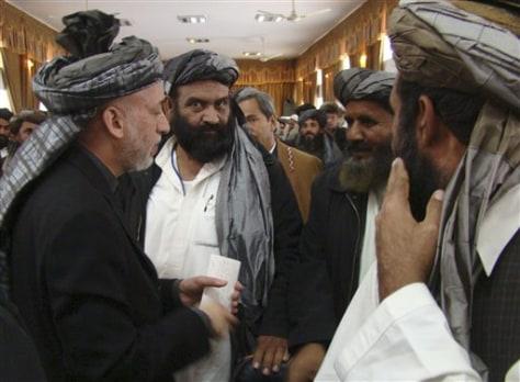 Afganistan President Hamid Karzai