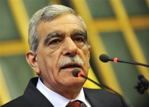 Image: Ahmet Turk, the leader of the pro-Kurdish Democratic Society Party or DTP