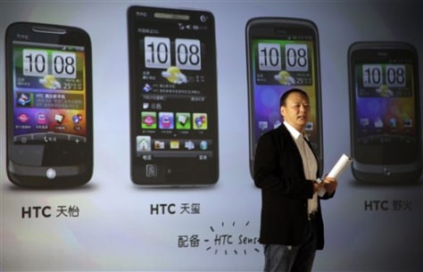 Image: Peter Chou, CEO of HTC