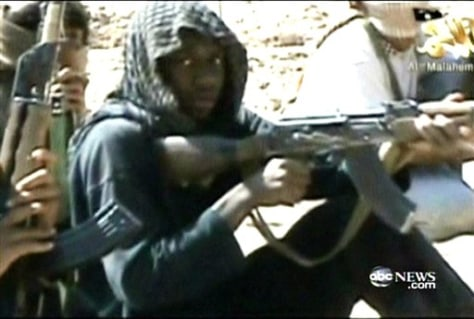 Image: Video image of Umar Farouk Abdulmutallab and others in his training class