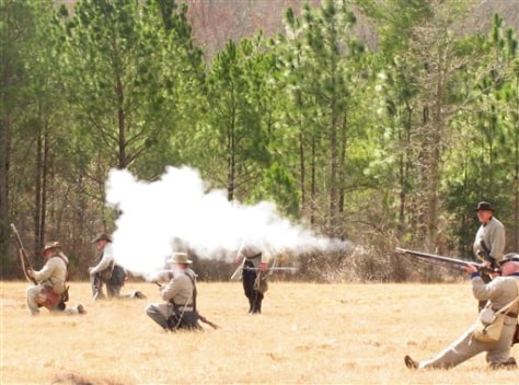 Image: Civil War re-enactors