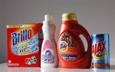 Image: Household cleaning products
