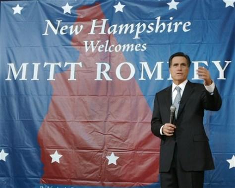 Former Gov. Mitt Romney, R-Mass.