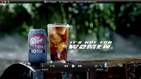 Image: Dr Pepper 10 ad