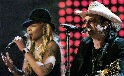 Image: Bono, Mary J. Blige
