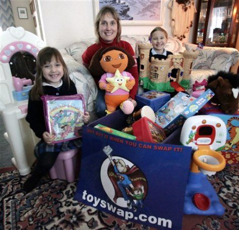 Toyswap founder and her children