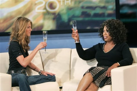 Jennifer Aniston and Oprah Winfrey