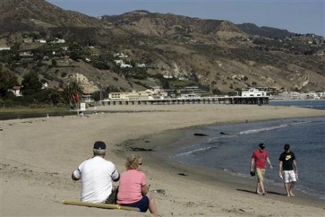 Image: Malibu beach