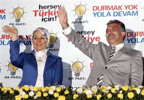 IMAGE: ABDULLAH GUL AND HIS WIFE