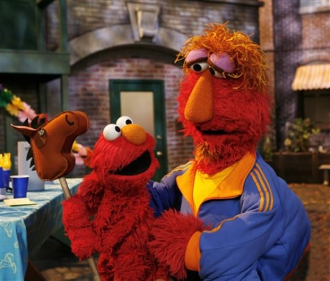 Image: Elmo and dad