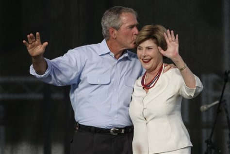 Image: George and Laura Bush