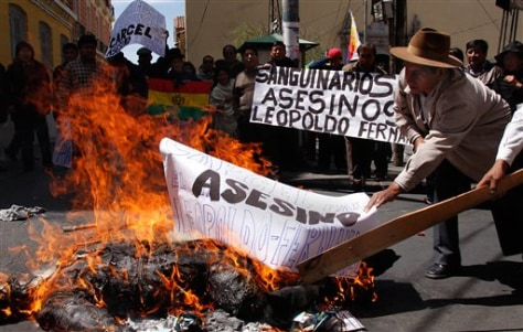 Image: Bolivia protests