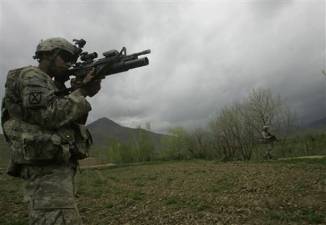 Image: A U.S. solider of 3rd Brigade, 10th Mountain Division