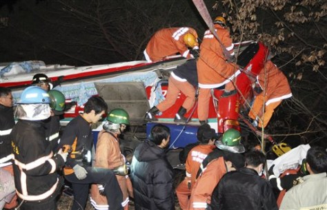 Image: Rescue workers search for victims