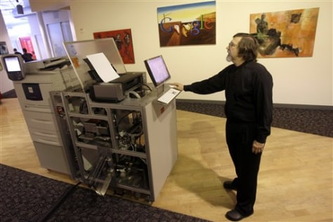 Image: Google book printer