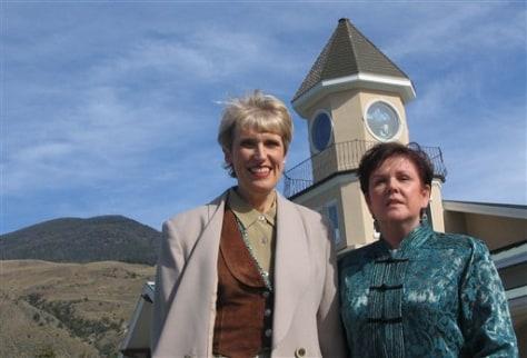 Image: Lois Drake, left, and Kate Gordon