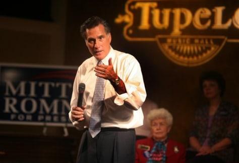 IMAGE: Former Gov. Mitt Romney, R-Mass.
