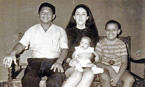 Image: Barack Obama and family