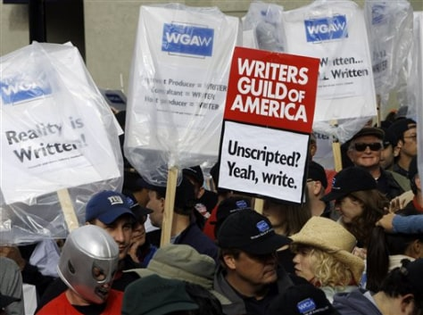 Image: Hollywood writers strike