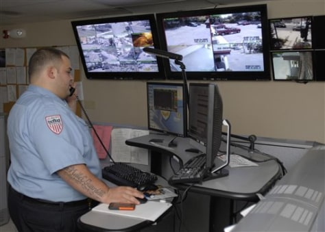 Image: Emergency dispatcher in Albany, N.Y.