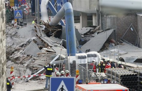 Image: Germany building collapse